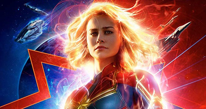 Filmposter från filmen Captain Marvel. Illustration.